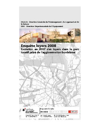 Enqu te loyers 2008 a 39 urba agence d 39 urbanisme bordeaux for Agence urbanisme paysage bordeaux