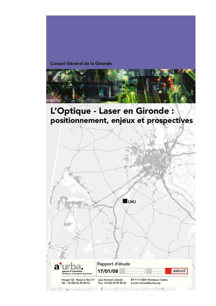 L 39 optique laser en gironde a 39 urba agence d 39 urbanisme for Agence urbanisme paysage bordeaux