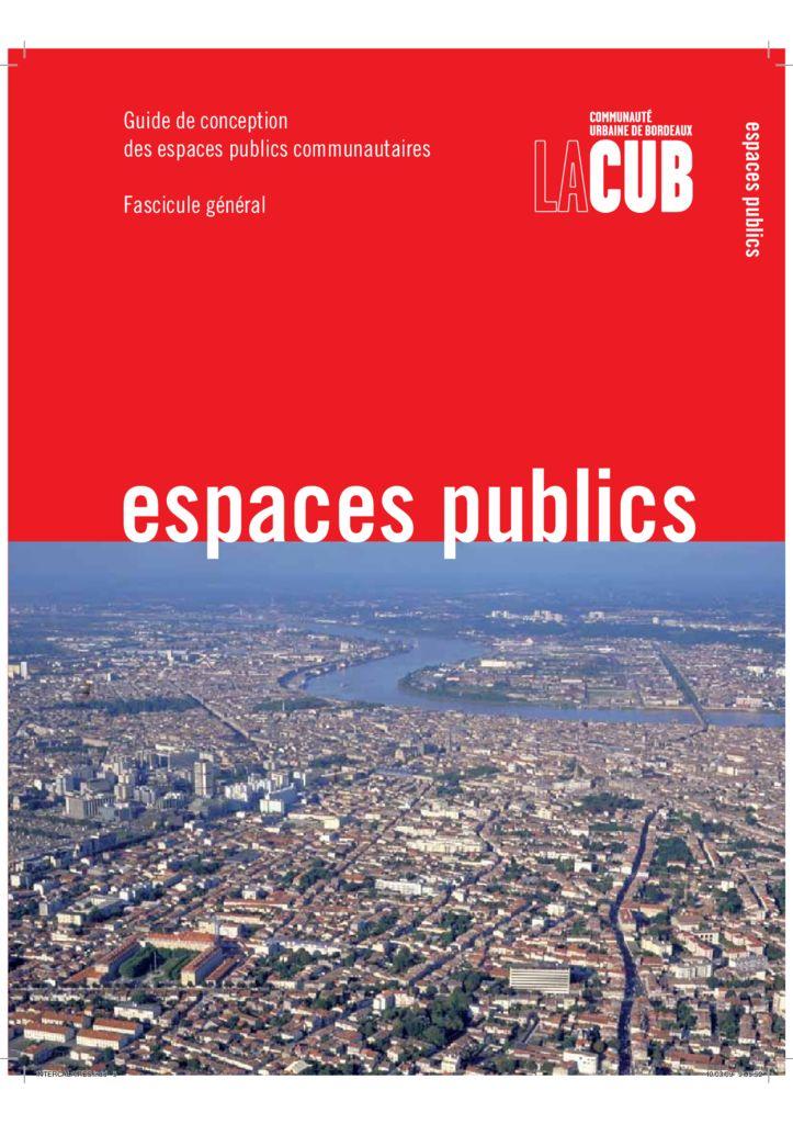Guide de conception des espaces publics communautaires a for Agence urbanisme paysage bordeaux