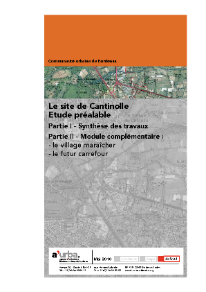 Le site de cantinolle a 39 urba agence d 39 urbanisme for Agence urbanisme paysage bordeaux