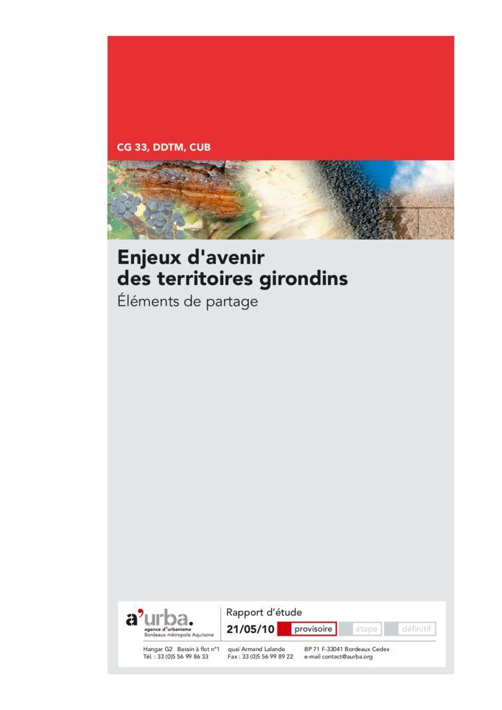 Enjeux d 39 avenir des territoires girondins a 39 urba agence for Agence urbanisme paysage bordeaux