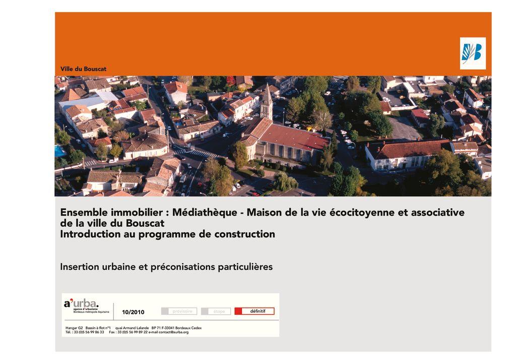 Le bouscat ensemble immobilier a 39 urba agence d for Agence urbanisme paysage bordeaux