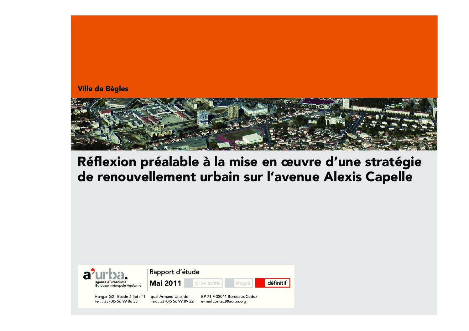 Avenue alexis capelle b gles a 39 urba agence d 39 urbanisme for Agence urbanisme paysage bordeaux