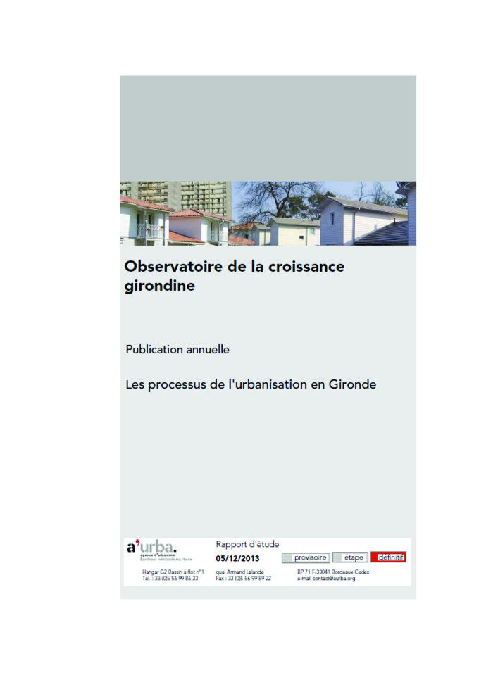 Observatoire de la croissance girondine 2012 a 39 urba for Agence urbanisme paysage bordeaux