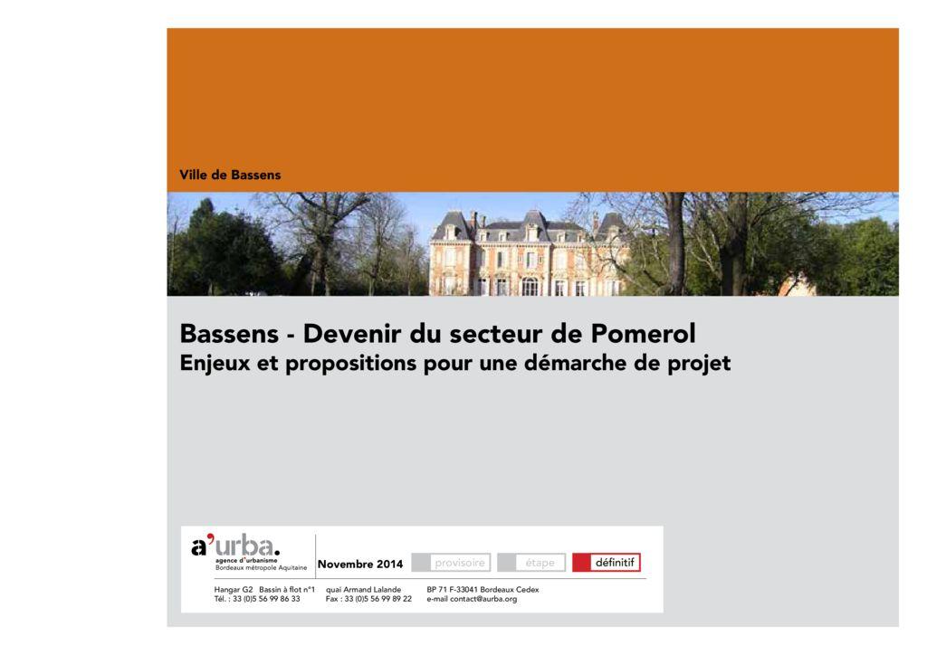Bassens secteur de pomerol a 39 urba agence d 39 urbanisme for Piscine de bassens