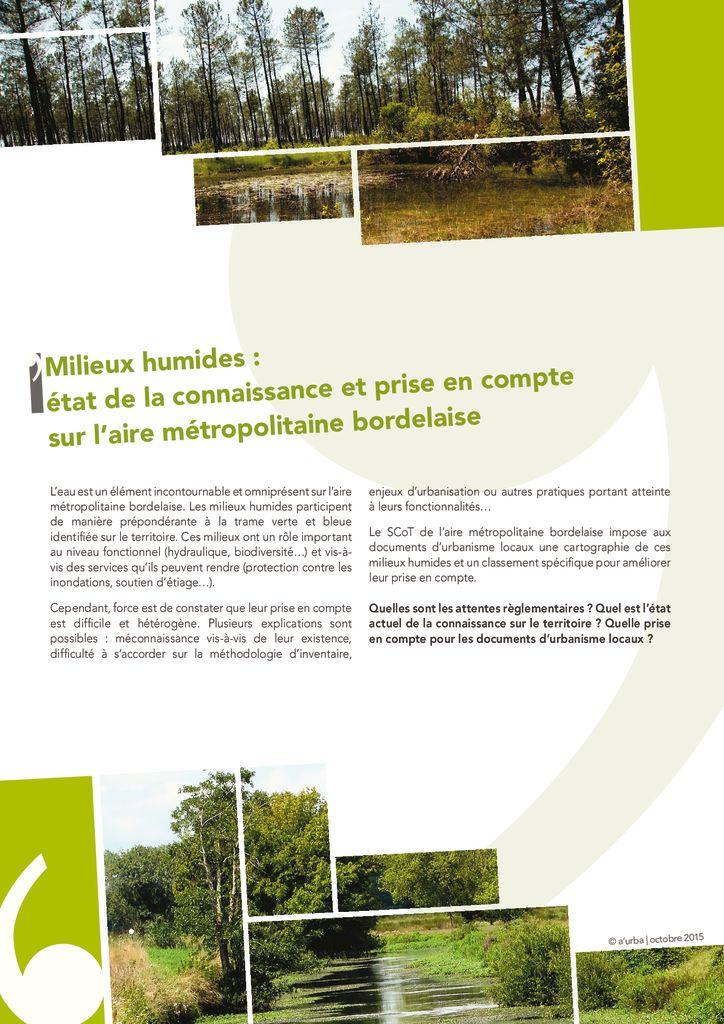 Milieux humides de l aire metropolitaine bordelaise a for Agence urbanisme paysage bordeaux