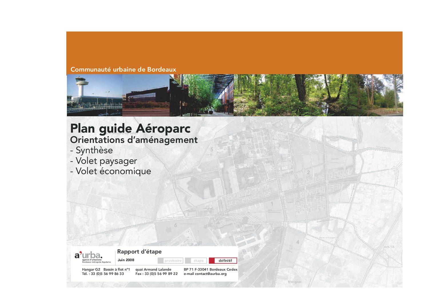 Plan guide a roparc a 39 urba agence d 39 urbanisme bordeaux for Agence urbanisme paysage bordeaux