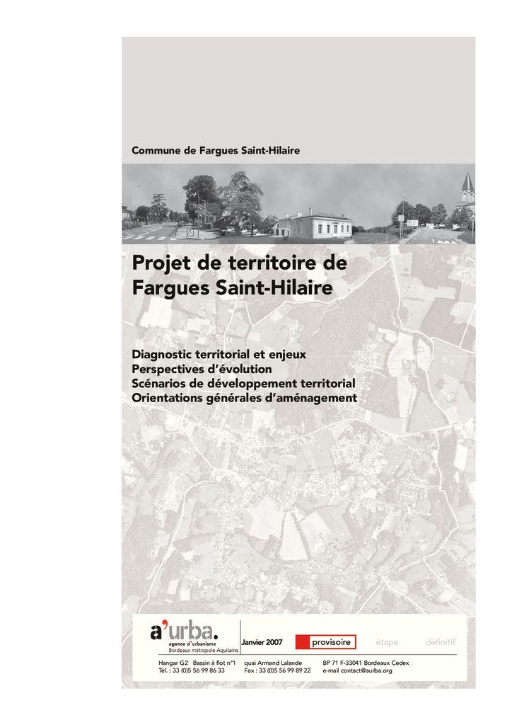 Projet de territoire de fargues saint hilaire a 39 urba for Agence urbanisme paysage bordeaux