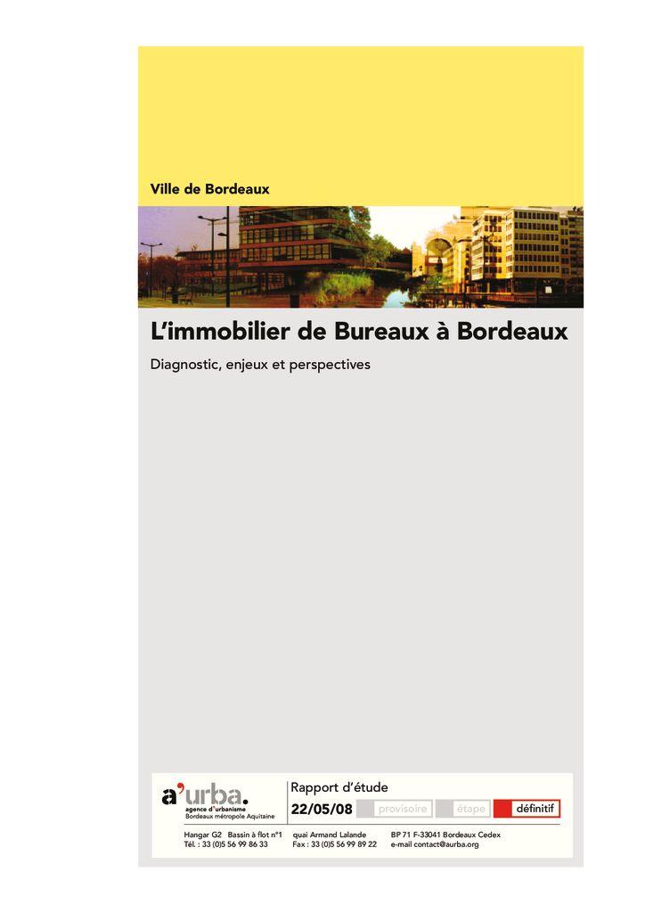 L 39 immobilier de bureaux bordeaux a 39 urba agence d for Agence urbanisme paysage bordeaux