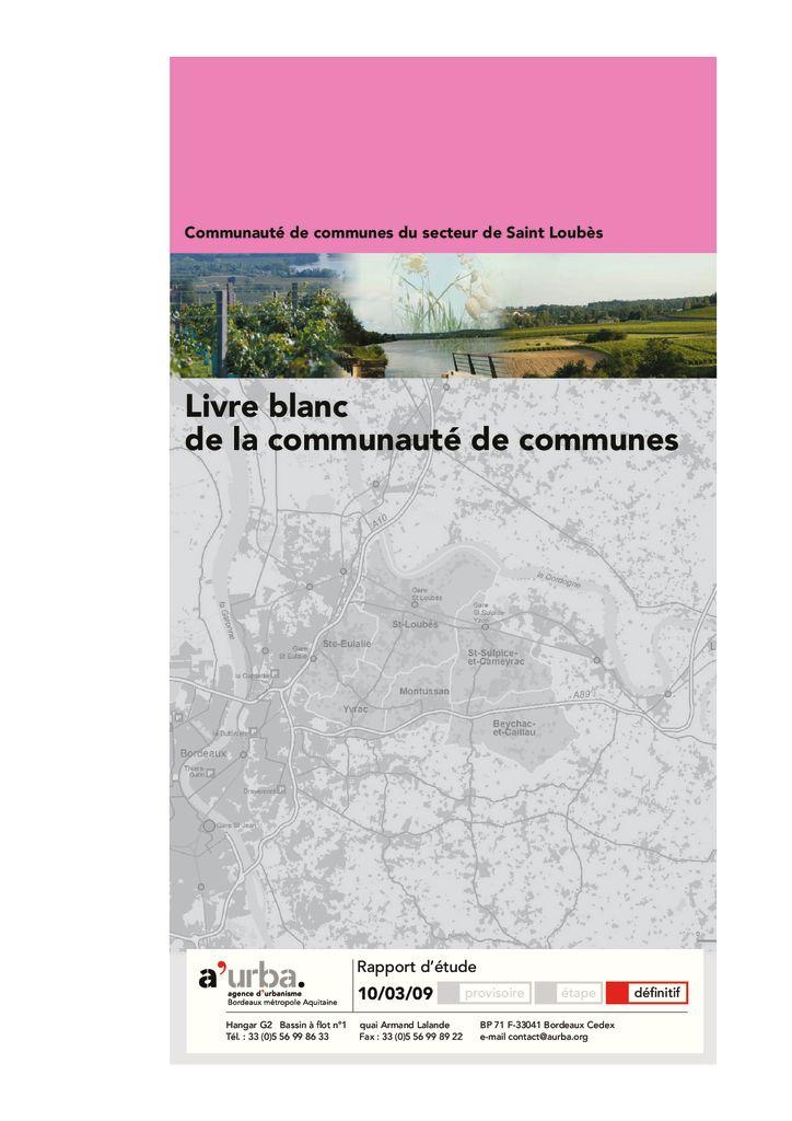 Livre blanc de la communaut de communes du secteur de for Agence urbanisme paysage bordeaux