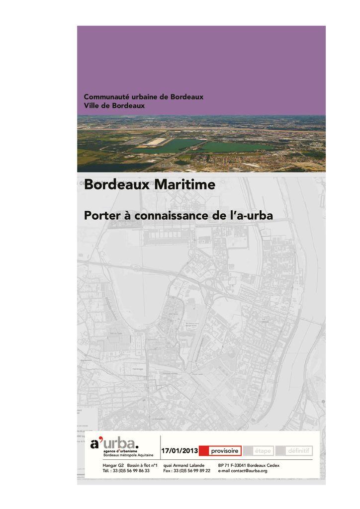 Bordeaux maritime a 39 urba agence d 39 urbanisme bordeaux for Agence urbanisme paysage bordeaux