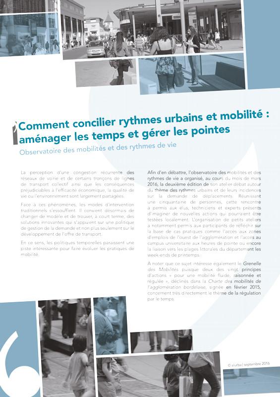 Comment concilier rythmes urbains et mobilit a 39 urba for Agence urbanisme paysage bordeaux