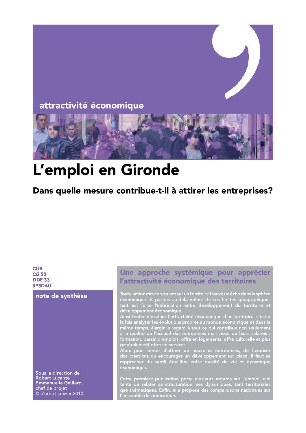 L 39 emploi en gironde a 39 urba agence d 39 urbanisme bordeaux for Agence urbanisme paysage bordeaux
